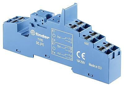 RELAY SOCKET DIN RAIL/PANEL 8PIN QC - 95P5SPA (Fnl)