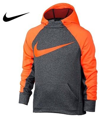 NIKE Boy's Dri-Fit THERMA Training Hoodie Pullover 803895-091 (Size Medium)