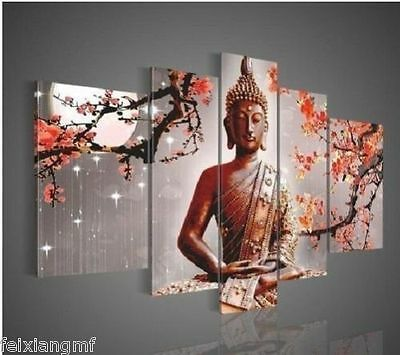 Modern Abstract Art Buddha Oil Painting On Canvas(no framed)