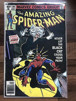 The Amazing Spider-Man #194 First Appearance Black Cat Marvel Comics