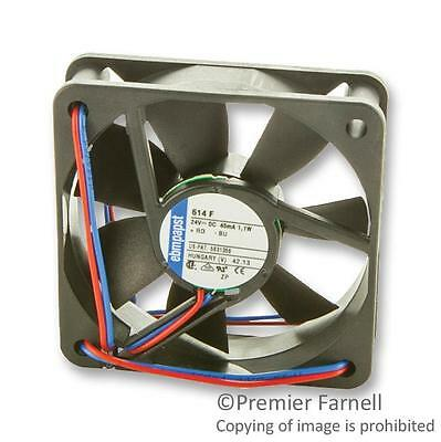 FAN 60X60X15MM 24VDC 29M3H 27DBA - 614F (Fnl)