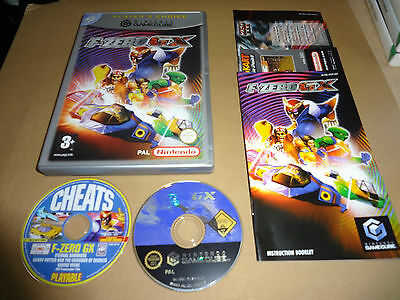 F-Zero Gx Game For Nintendo Gamecube Complete Pal Plus Cheats Disc