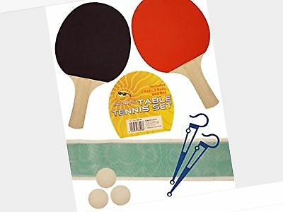 Table Tennis Ping Pong Ball Set Woooden 2 Player Indoor Net Home Family  Game