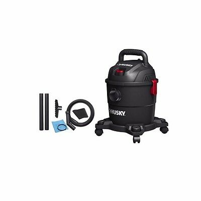 Husky 4 Gal. Portable Poly Wet/Dry Vacuum Cleaner Floor Car Shop Business Home
