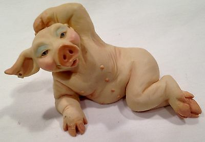 PIGTAILS™ Pig in reclining pose from 1992 Holland Studios