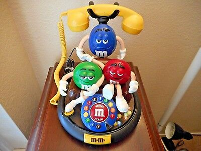 M&m Collectible Animated & Talking Telephone Works Great  In Mint Condition