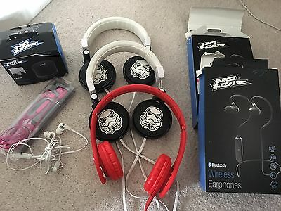 Joblot Damaged Used Star Wars Heaphones And Bluetooth No Fear Speaker