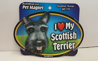"Scandical I Love My SCOTTISH TERRIER Dog Laminated Car Pet Magnet 4"" x 6"" MP 175"