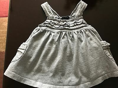 Clavin Klein Jeans Girls Size 24 Month Gray And White Sleeveless Top