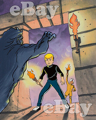 Rare! JONNY QUEST Cartoon Color TV Photo HANNA BARBERA Studios