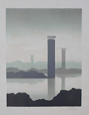 Trevor Grimshaw Limited Edition 7/150 Signed Print | Approaching Monoliths