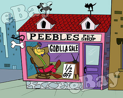 Rare! MAGILLA GORILLA Cartoon Color TV Photo HANNA BARBERA Studios PEEBLES SHOP