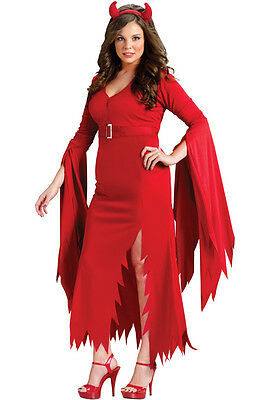 Brand New Gothic Devil Plus Size Red Hot Dress Adult Women Costume