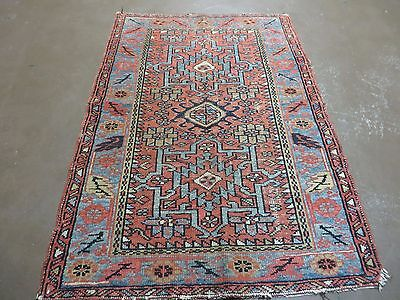 3' X 4' Antique Hand Made Persian Heriz Karajeh Gharajeh  Wool Rug Nice