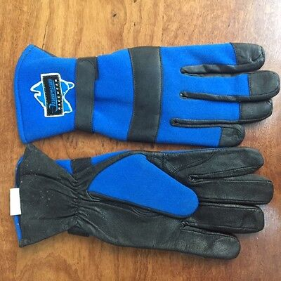 Emerson Racewaer Go Kart Gloves Blue Large