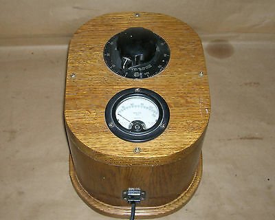 Lab Variable Transformer Ohmite VT8 7.5 Amp in Oak Case