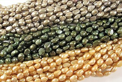 90 inch 8-9x10-11mm Rice Nugget Long Pearl Necklaces Peacock OR Champagne #249