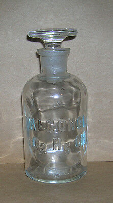 Chemical Lab Reagent Bottle - Embossed Label - #21 - Alcohol C2H5OH