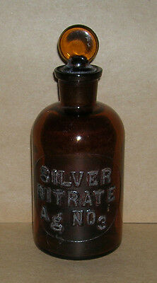 Chemical Lab Reagent Bottle - Embossed Label - #27 Silver Nitrate AgNO3 - #2