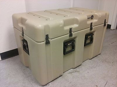 PELICAN HARDIGG 39x24x24 TAN Shipping Container Waterproof Military Hard Case