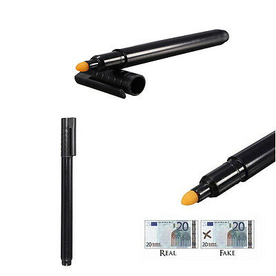 Tester Pen Black Money Checker Counterfeit Detector Marker Fake Banknotes Best