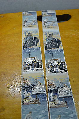 Trafalgar Multi Color Cruise Ship Theme Suspenders/Braces w/ Brown Leather Ends