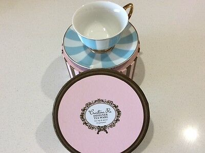 Cristina Re Designer Tea Cup & Saucer Signature High Tea Collection Gift Box Set