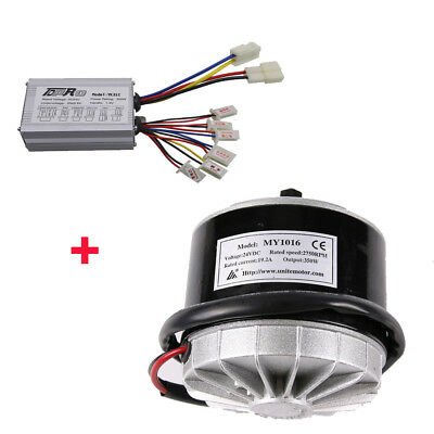 Motor + Brush Speed Controller Box 24V 350W  for Electric Bicycle & Scooter Bike