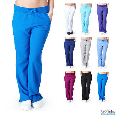 Womens Junior Fit Ultrasoft Nursing Hospital Uniform Stretchy Yoga Scrub Pants