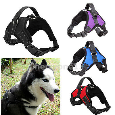 Extra Big Large Medium Dog Harness Pet Mesh Vest Adjustable Collar With Handle