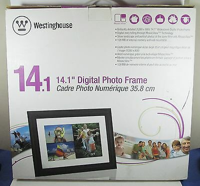 Westinghouse 14.1 inch Widescreen Digital Photo Frame - dpf-1411, NEW IN BOX