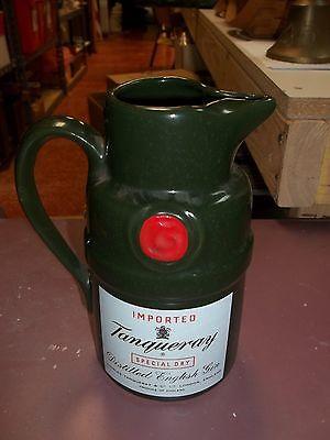 Vintage 1970's Tanqueray Gin Green Decanter Pitcher 3837