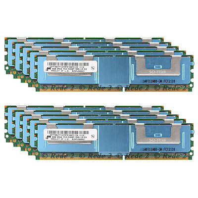 For  Micron 64GB 8x 8GB 2Rx4 PC2-5300F DDR2-667MH​z ECC FB-DIMM Server Memory