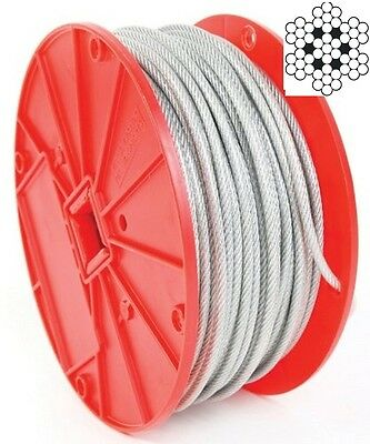 "New Vinyl Coated Wire Rope Cable 1/8"" - 3/16"" 250 Ft (SAME DAY SHIPPING)"
