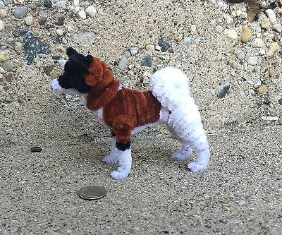 Handmade PipeCleaner Dog - Unique Design - One of a Kind - Akita #1