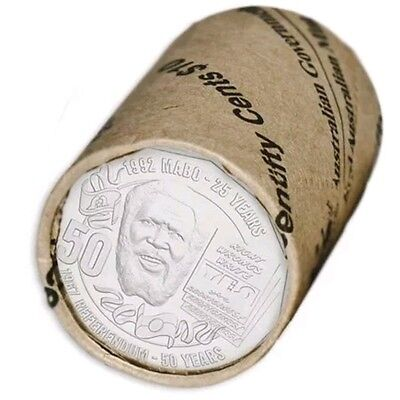 2017 Eddie Mabo Pride and the Passion 50c Fifty Cent RAM Roll of 20 coins