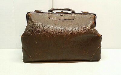 "Vintage Brown Doctors Bag 16"" Genuine Seal SHARK ATD DEC.I-I 1772"