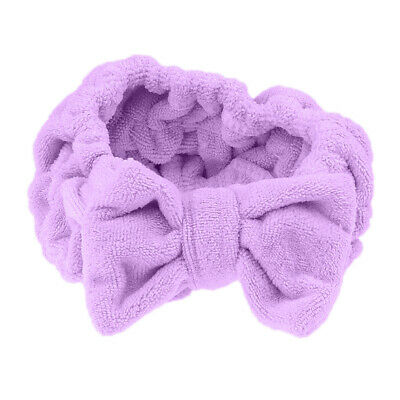 Cute Bowknot Makeup Cosmetic Headband Face Washing Shower Bath Spa Hairband Wrap