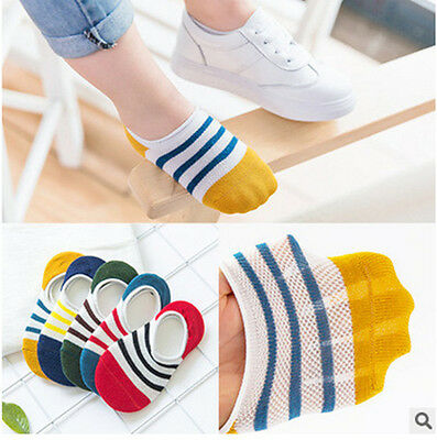 10Pairs Baby Boy girls Child Loafer Boat Nonslip Invisible No Show Low Cut Socks