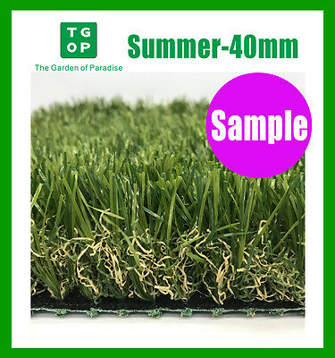 Sample Only!  Summer 40mm 4Tone Artificial Grass Synthetic Turf  Lawn Carpet