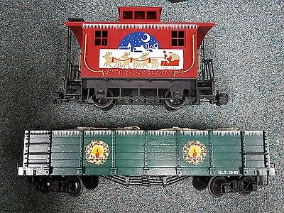 bachmann g scale christmas caboose and gondola