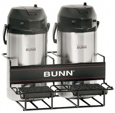 BUNN Universal Coffee Airpot Rack Pourover Warmer Machine Stainless (Side/Side)