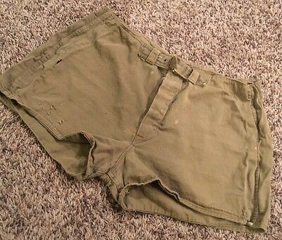 Vintage 1940's UDT Military Swim Trunks Shorts Button Fly 1924 Patent