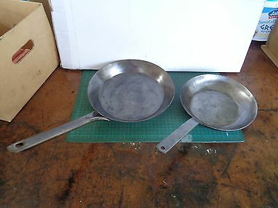 Vintage frypans x2 , stove top or campfire, unbranded