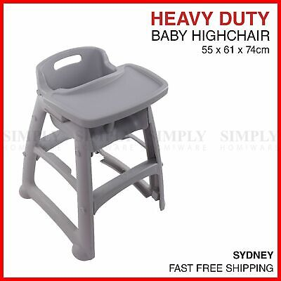 Baby High Chair Feeding Toddler Child Highchair Stackable Restaurant Childcare
