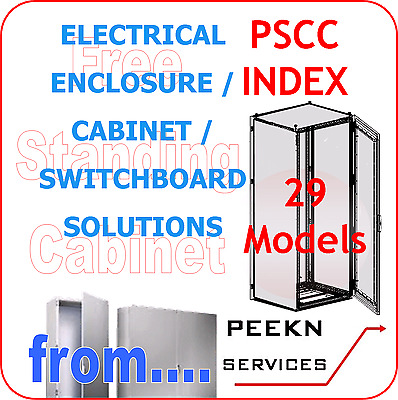 Free Standing Electrical Enclosure / Cabinet / Switchboard INDEX ONLY pscc_Ind