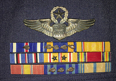 Air Force uniform with hat and awards WW2 Korea Vietnam