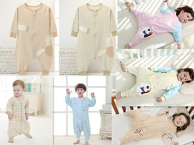 soft Cotton BABY KIDS Boys Girls Animal SLEEPING BAGS WITH FEET AGE 5-36 Months