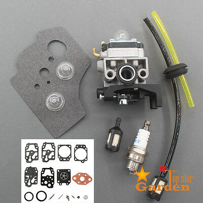 Carburetor For Honda GX25 GX25NT HHT25S 16100-Z0H-825 Repair Kit Spark Plug Bulb