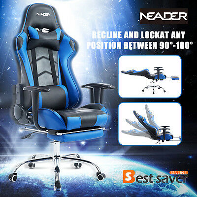 NEADER Racing Chair Executive Gaming Chair Luxury Leather High Back Office Desk